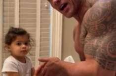 اداکار ڈیوائن جونسن نے بیٹی کے ساتھ ویڈیو ریلیز کردی