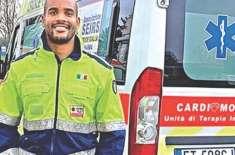 اطالوی رگبی سٹارکوروناکیخلاف جنگ میں ایمبولینس ڈرائیور بن گیا