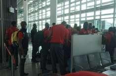 زمبابوے کرکٹ ٹیم پاکستان پہنچ گئی