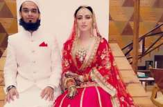 بھارتی اداکارہ ثنا خان کی شوہر کیساتھ آیت الکرسی پڑھتے ہوئے ویڈیو ..