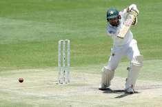 محمد رضوان بطور کپتان پہلے ٹیسٹ کی دونوں اننگز میں نصف سنچریاں بنانیوالے ..