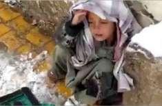 پاکستان بیت المال کے ایم ڈی نے کوئٹہ میں شدید سردی میں جوتے پالش کرنے ..