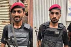 پاکستان سٹاک ایکسچینج حملہ، رومان رئیس ہیرو پولیس اہلکاروں کا آٹوگراف ..