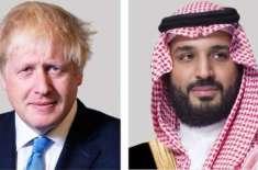 برطانوی وزیر اعظم کی سعودی ولی عہد سے ٹیلفیون پرگفتگو
