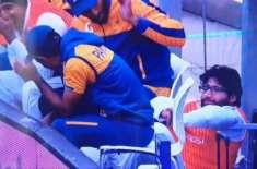 قومی کرکٹ ٹیم کے اوپنر امام الحق گر پڑے، ویڈیو وائرل