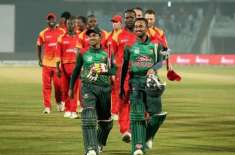 بنگلہ دیش اور زمبابوے کے درمیان دوسرا اور آخری ٹی ٹونٹی میچ کل کھیلا ..