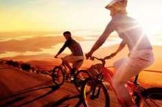 کشمیر بنے گا پاکستان آل سندھ انٹر کالجز سائیکل ریس گورنمنٹ اکنامکس ..