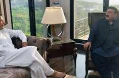 وزیراعظم عمران خان سے وفاقی وزیر ریلوے شیخ رشید احمد کی ملاقات