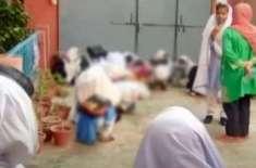 رحیم یارخان،سکول میں تاخیر سے آنیوالی طالبات کو مرغا بنادیا گیا