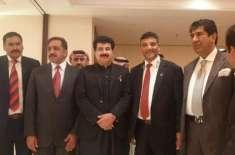 سینیٹ چیئرمین صادق سنجرانی وفد کے ہمراہ بحرین پہنچ گئے