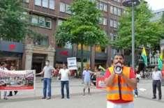 جرمنی کے ساحلی شہر ہیمبرگ میں تحریک کشمیر ہیمبرگ کی جانب سے احتجاجی ..