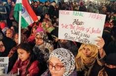 نئی دہلی شاہین باغ میں خواتین کا دھرنا بھارت کی قومی تحریک بن گیا
