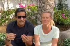 Fearful of the Corona virus, Waseem Akram and Shanira found themselves alone