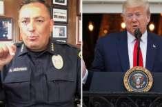 پولیس افسر نے امریکی صدر کو اپنا منہ بند رکھنے کا کہہ دیا
