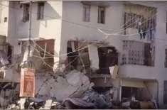 گلشن اقبال کراچی میں ہوئے دھماکے کے متاثرین گھر اور معاوضے سے محروم، ..