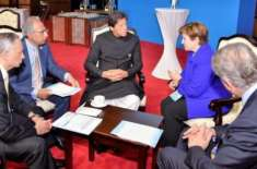 عمران خان اورآئی ایم ایف کی سربراہ کے درمیان ملاقات