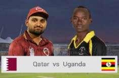 قطر اور یوگنڈا کے درمیان تین میچوں کی سیریز کا تیسرا اور آخری ٹی 20کرکٹ ..