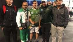 حمزہ خان نے انڈر15 برٹش جونیئر سکواش چیمپئن شپ جیت لی