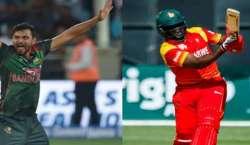 بنگلہ دیش اور زمبابوے کے درمیان تین میچوں کی سیریز کا پہلا ون ڈے میچ ..