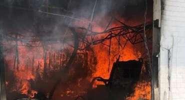 سعودی عرب کی معروف مارکیٹ میں خوفناک آتش زدگی