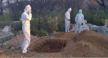 ہنگو میں کورونا وائرس سے جاں بحق شخص کی تدفین کے دل دہلا دینے والا مناظر، ..