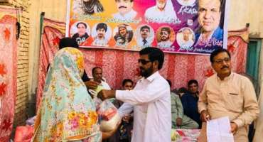 چوہدری رحمت علی فاونڈیشن کی جانب سے فری راشن کی تقسیم کا سلسلہ جاری
