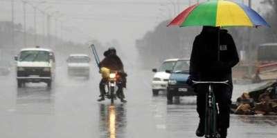 جمعے اور ہفتے کو موسم بہار کی پہلی بارش کا امکان