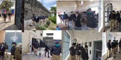 ڈپٹی کمشنر جہلم کا ڈسٹرکٹ جیل میں کرونا وائرس سے بچاؤ کے ضمن میں جیل ..