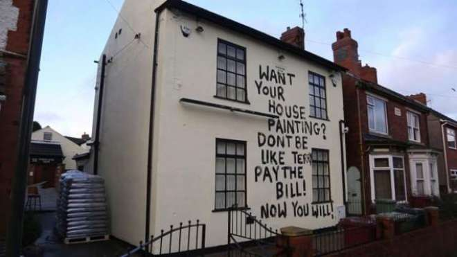 گھر پینٹ کرا کے ادائیگی نہ کرنے والے شخص سے پینٹر کا انوکھا انتقام
