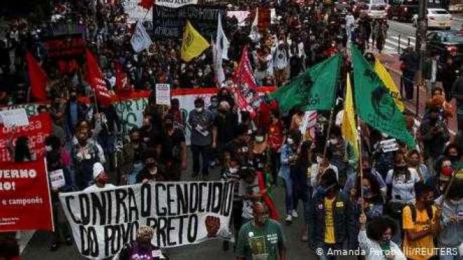 سیاہ فام کی ہلاکت کے بعد برازیل میں ہنگامے