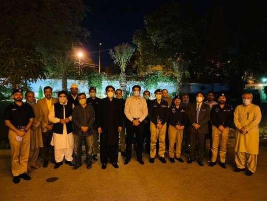 بلاول بھٹو آئی جی سندھ سے ملاقات کے لیے پولیس ہیڈکوارٹرز پہنچ گئے