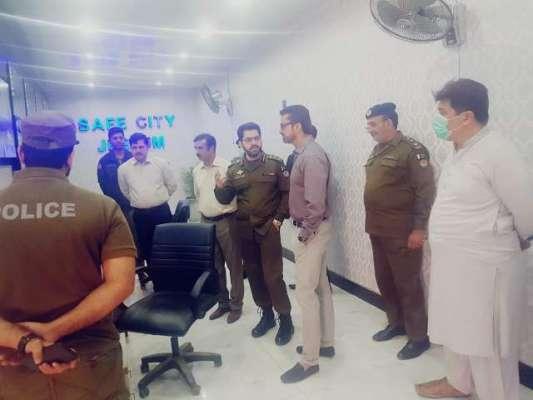 کمشنر راولپنڈی ڈویثرن کاڈسٹرکٹ پولیس آفس جہلم کا دورہ
