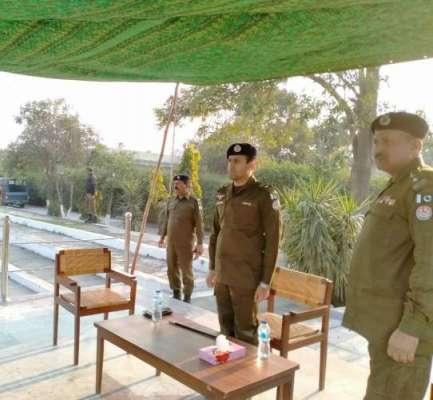 ڈی پی او جہلم کی ہدایات پر ڈسٹرکٹ پولیس لائنز جہلم میں مجمع خلاف قانون ..