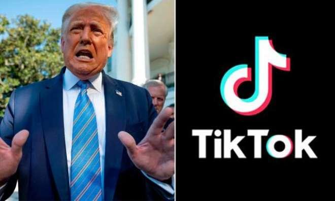 صدر ڈونلڈ ٹرمپ کی ٹک ٹاک پر پابندی عائد کر نے کی دھمکی