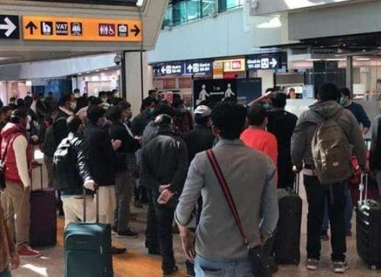 اٹلی کے روم ایئرپورٹ پر پھنسے 130 پاکستانیوں کو اٹلی میں واپس انکے گھروں ..