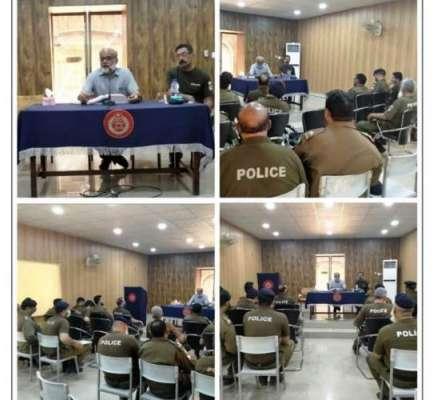ڈسٹرکٹ پولیس لائنز جہلم میں تفتیشی افسران کیلئے خصوصی لیکچر کا اہتمام