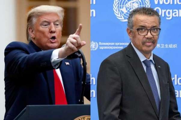 امریکی صدر نے عالمی ادارہ صحت کیساتھ تمام تعلقات ختم کر دیے
