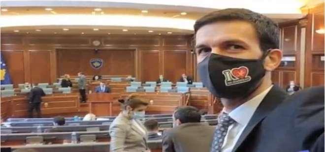یورپی ملک میں رکن اسمبلی آئی لو محمد ﷺ کی تحریر والا ماسک پہن کر اسمبلی ..