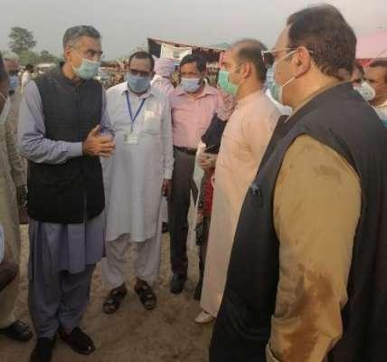صوبائی وزیر لائیو سٹاک پنجاب کا مویشی منڈی کا دورہ،