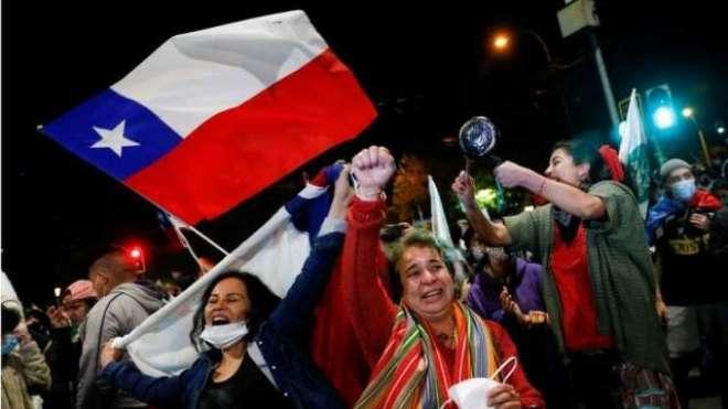 چلی ، ریفرنڈم میں نیا آئین منظور ہونے پر عوام کا جشن