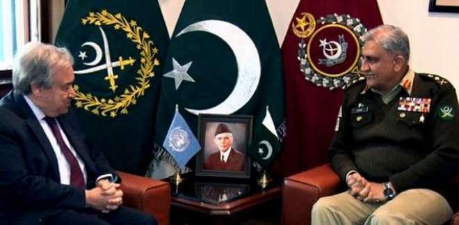 آرمی چیف سے زلمے خلیل زاد اور اقوام متحدہ کے سیکرٹری کی ملاقاتیں