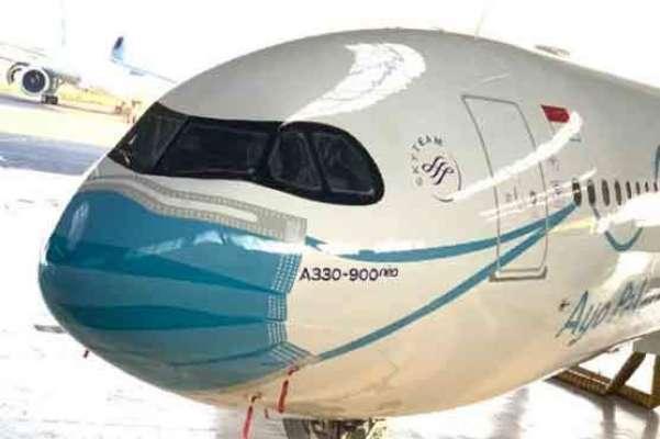 کورونا وائرس سے بچنے کے لیے جہاز نے بھی ماسک پہن لیا