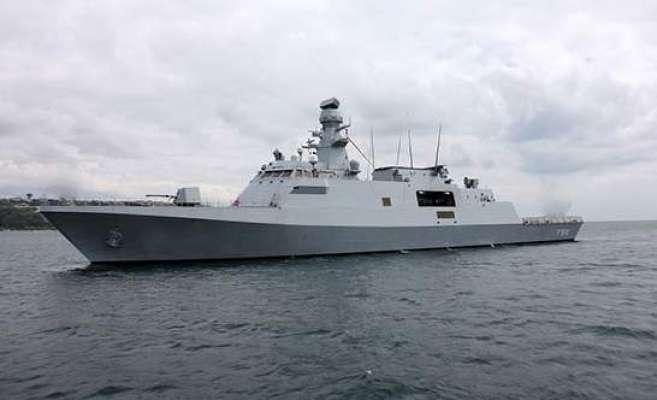 پاک بحریہ کیلئے جدید ترین ملجم کلاس کارویٹ جہاز کی تعمیر شروع کردی ..