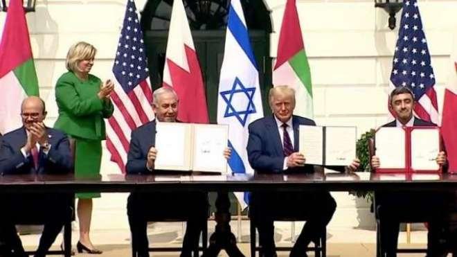 متحدہ عرب امارات، بحرین اور اسرائیل امن معاہدے کی تقریب میں عمان کے ..