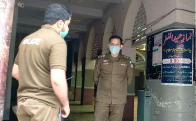 ڈسٹرکٹ پولیس آفیسر جہلم کی ہدایات پر جمعتہ الوداع کے موقع پر سیکیورٹی ..