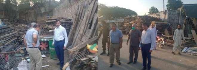 ڈپٹی کمشنر جہلم کا انسداد ڈینگی مہم کے تحت مختلف مقامات کا دورہ،ڈینگی ..