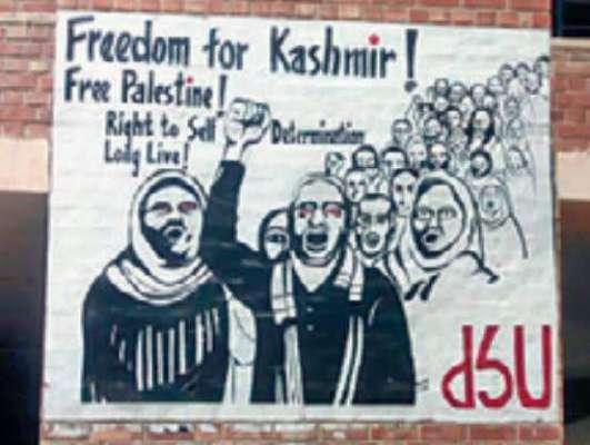 بنگلورو میں متنازعہ قانون کے خلاف مظاہروں کے دوران دیواروں پر 'فری ..