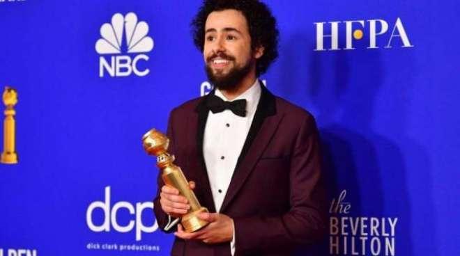اداکار رامے یوسف کا گولڈن گلوب جیتنے کے بعد اللہ اکبر کا نعرہ