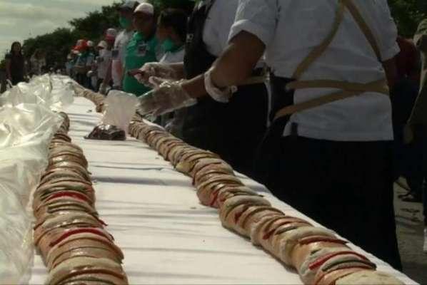 میکسیکو نے تقریباً 10 ہزار فٹ  طویل پیسٹری  کا  ریکارڈ اپنے نام کر لیا