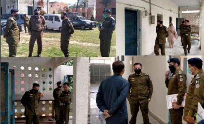 ڈسٹرکٹ پولیس آفیسر جہلم رانا عمر فاروق کا قرنطینہ سنٹرز کا دورہ